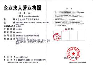 北京威踏企业法人营业执照副本