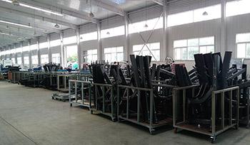 北京威踏健身房器材生产车间