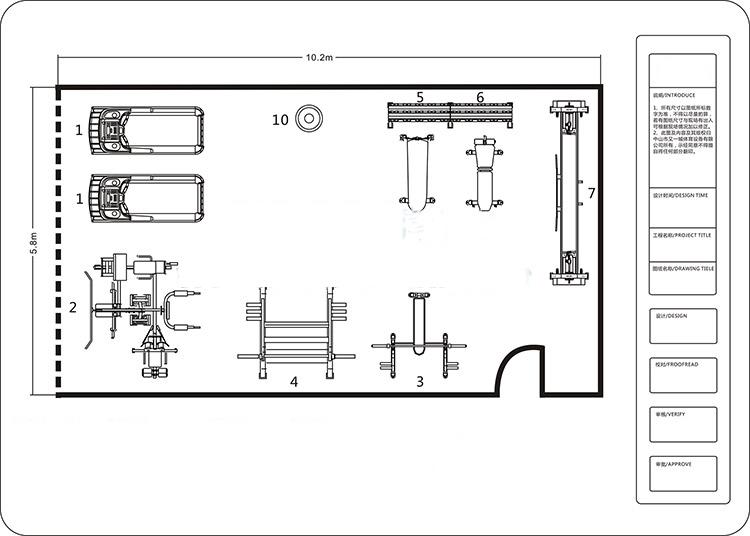 60平米健身房方案
