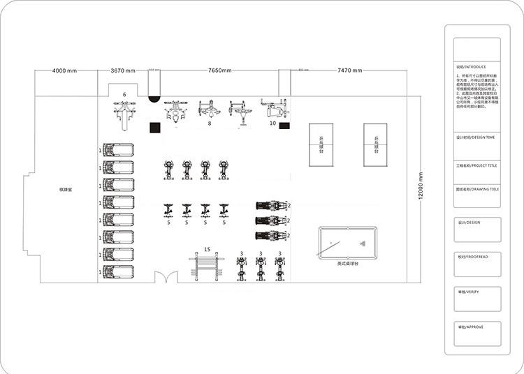 150平米健身房方案